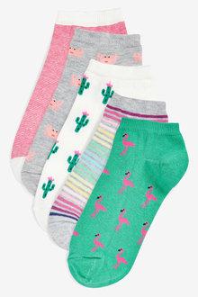 Next Assorted Print Trainer Socks Five Pack