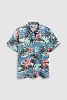 Next Matching Family Womens Hawaiian Print Shirt
