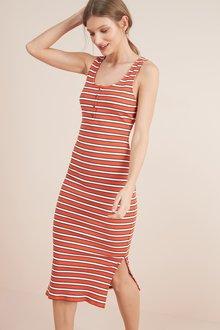 Next Rib Button Dress- Tall