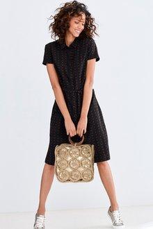Next Textured Shirt Dress- Tall