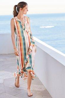 Next Frill Detail Wrap Dress- Tall