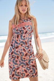 Next Linen Blend Shift Dress- Tall - 232534