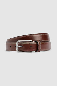 Next Signature Italian Leather Twin Stitch Belt