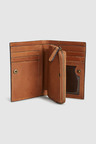 Next Leather Zip Around Bifold Wallet