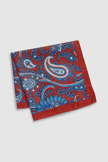 Next Paisley Pattern Silk Pocket Square