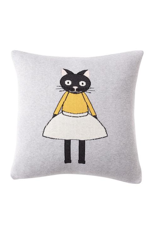 Chloe Cat Knitted Cushion