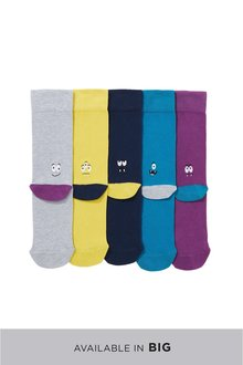 Next Monster Heel Embroidered Socks Five Pack