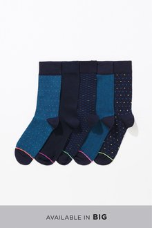 Next Pattern Bright Pop Socks Five Pack