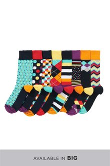 Next Geometric Pattern Socks Eight Pack