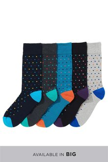 Next Spot Cushioned Sole Socks Five Pack