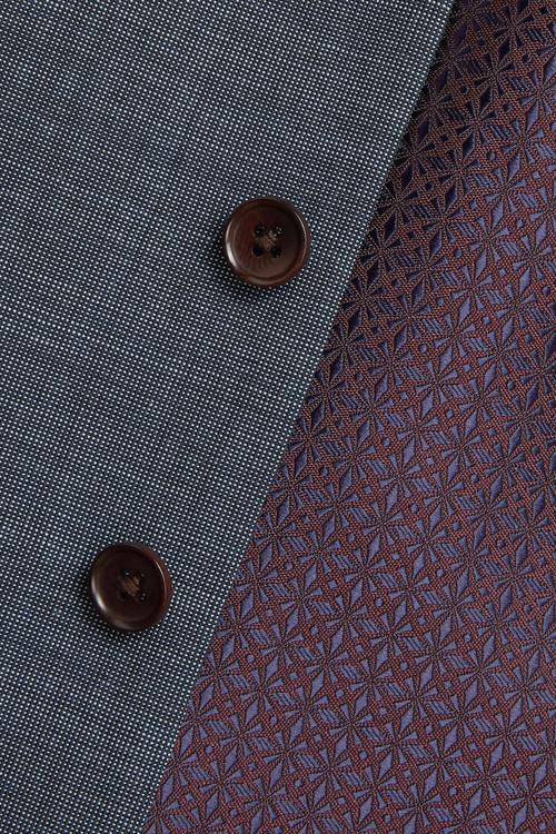 Next Signature Textured Suit: Waistcoat
