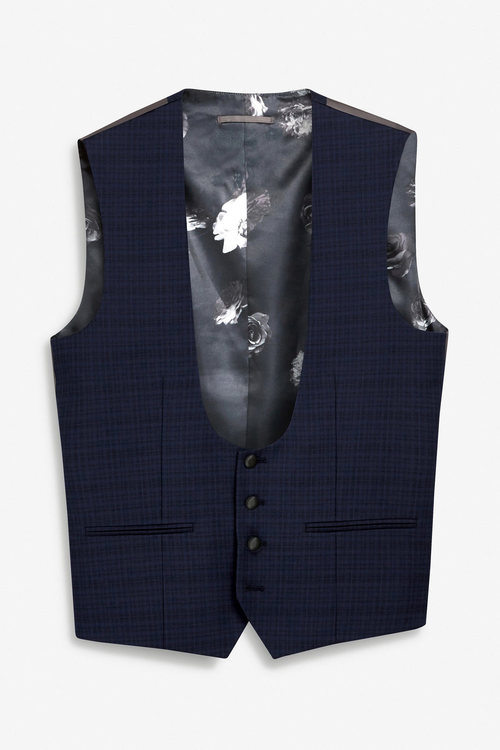 Next Check Tuxedo Suit: Waistcoat