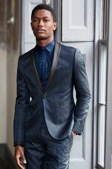 Next Skinny Fit Paisley Jacquard Suit: Jacket