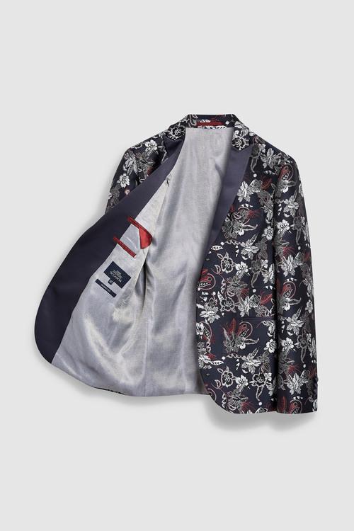Next Skinny Fit Patterned Tuxedo Suit: Jacket