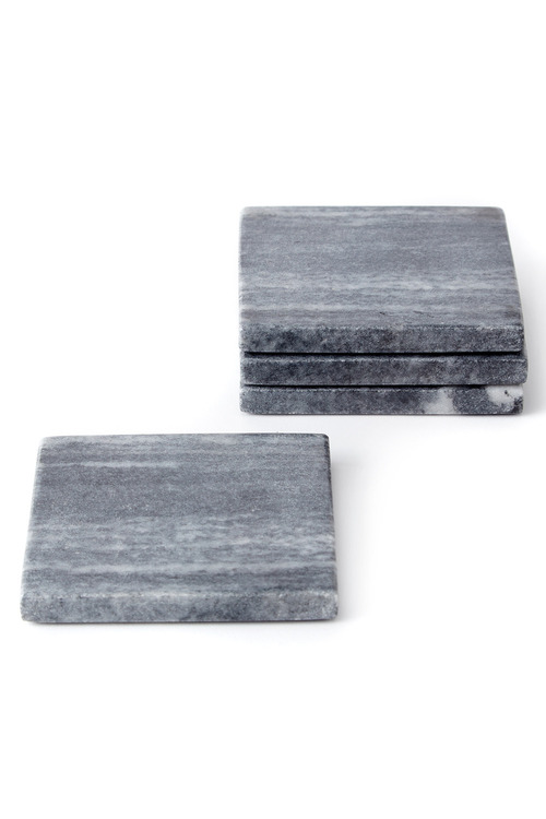 Square Marble Coasters Set of Four