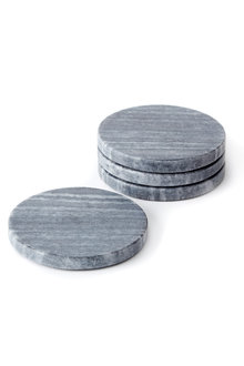 Round Marble Coasters Set of Four - 232663