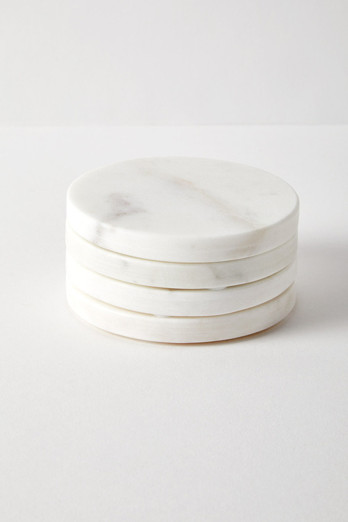 Round Marble Coasters Set of Four