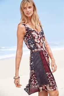 Next Button Detail Dress- Tall - 232674