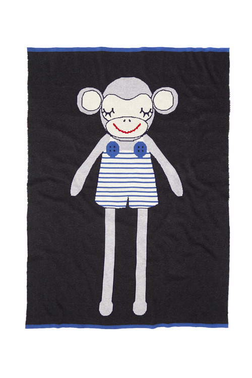 Marty Monkey Knitted Baby Blanket