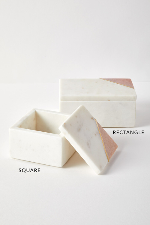 The Dressing Room Marble Rectangle Box