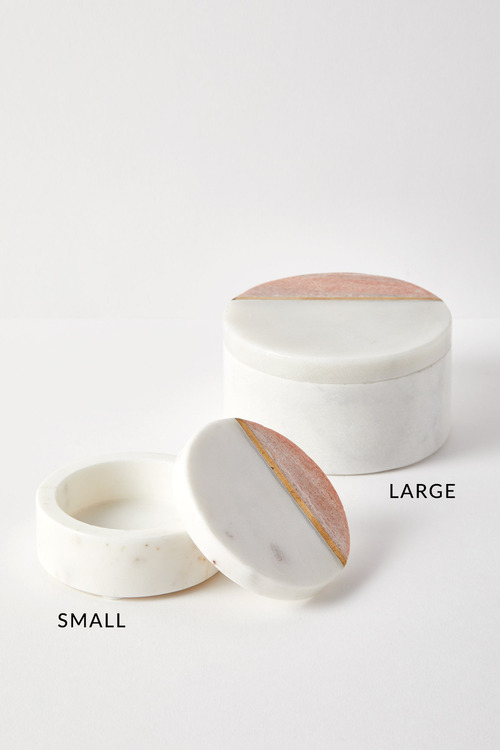 The Dressing Room Marble Round Box