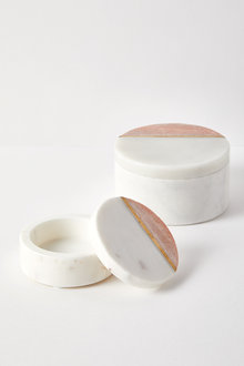 The Dressing Room Marble Round Box - 232737
