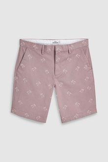 Next Palm Tree Print Chino Shorts