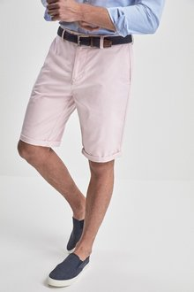 Next Belted Oxford Chino Shorts