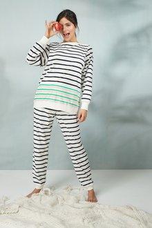 Next Boat Neck Cosy Pyjamas- Tall