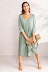 Plus Size - Sara Linen Drape Dress