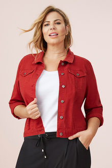 Plus Size - Sara Short Denim Jacket - 232794