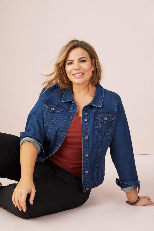 Plus Size - Sara Short Denim Jacket