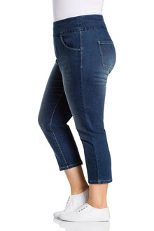Plus Size - Sara Pull On Denim Crop - 232796