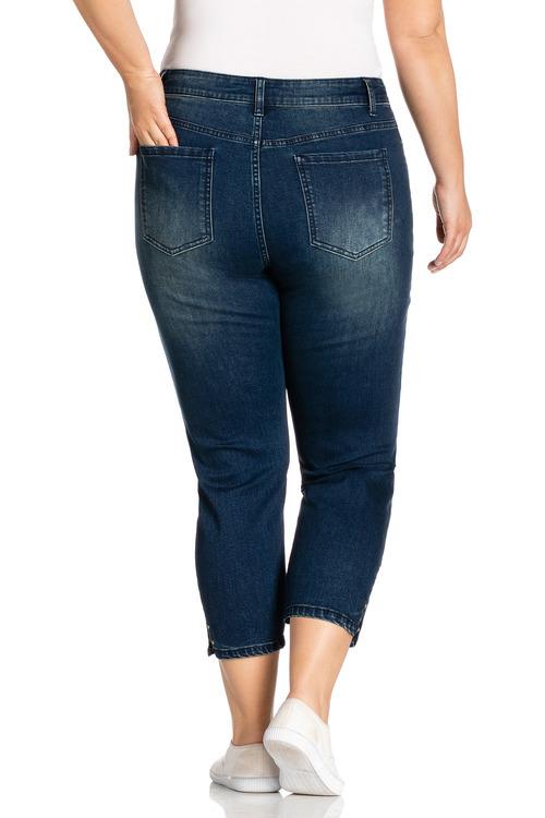 Plus Size - Sara Stud Detail Crop Jeans