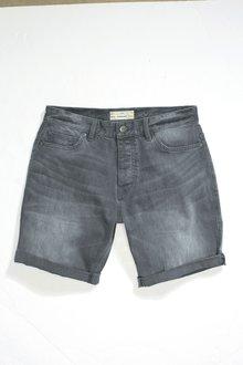 Next Chalk Wash Denim Shorts -Skinny Fit