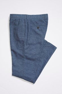 Next Linen Blend Slim Fit Chino Trousers