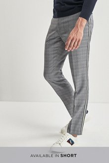 Next Check Side Stripe Skinny Fit Trousers - 232826