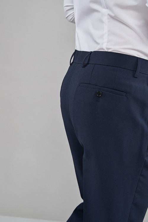 Next Machine Washable Plain Front Trousers -Regular Fit