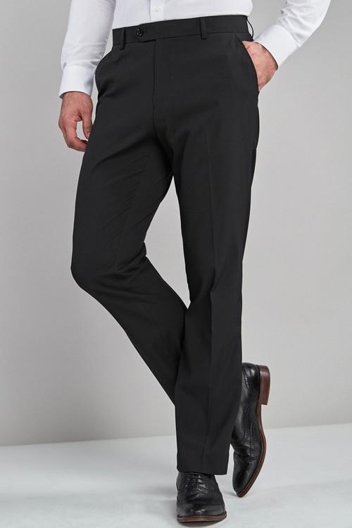 Next Stretch Plain Front Trousers -Regular Fit