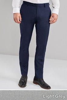 Next Twin Pleat Trousers -Skinny Fit