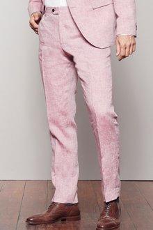 Next Signature Linen Suit: Trousers -Slim Fit