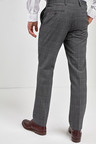 Next Check Wool Mix Tailored Fit Trousers