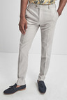 Next Linen Blend Skinny Fit Suit: Trousers -Skinny Fit