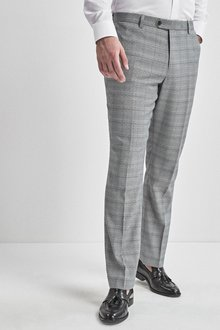 Next Regular Fit Check Suit: Trousers - 232857