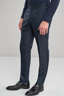 Next Skinny Fit Paisley Jacquard Suit: Trousers