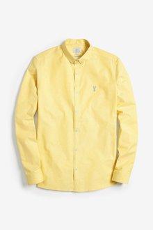 Next Long Sleeve Stretch Oxford Shirt -Slim Fit