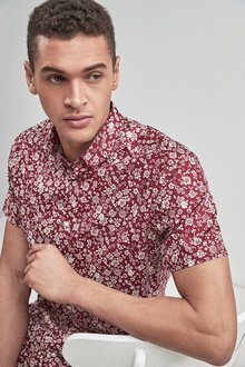 Next Short Sleeve Floral Shirt