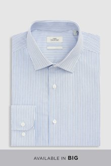 Next Fine Stripe Regular Fit Shirt
