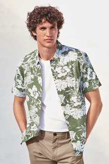 Next Tropical Leaf Print Shirt