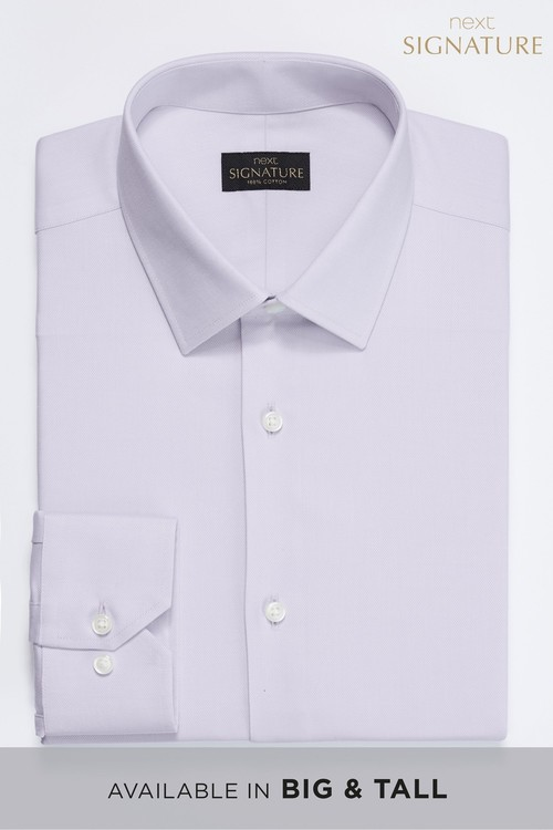 Next Signature Textured Shirt -Slim Fit Single Cuff